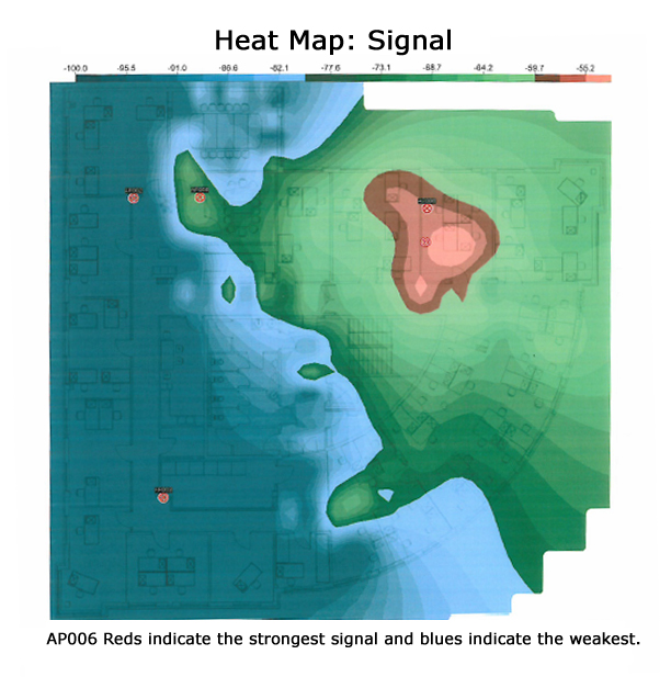 Wireless Site Surveys Reliable Connectivity Improve Workflow - Wireless signal map