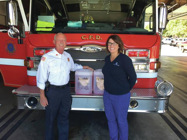 state systems donates to columbia fire department