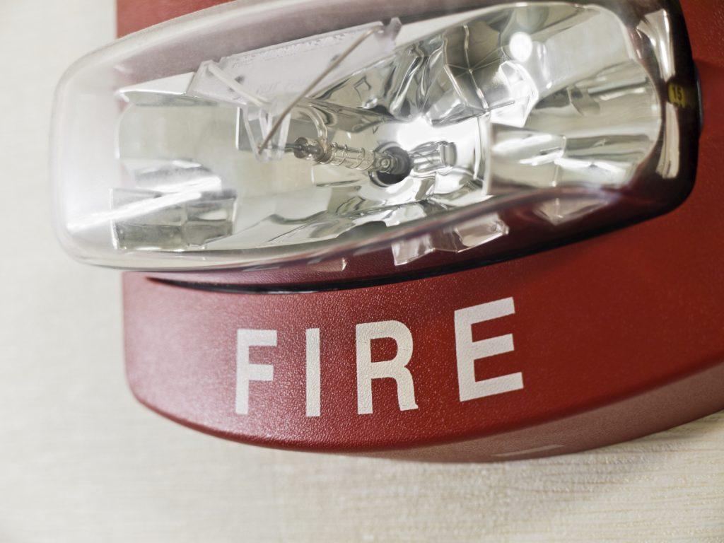 fire alarm strobe light
